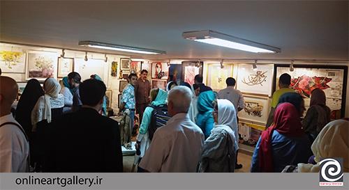 گزارش تصویری نمایشگاه صد اثر ، صد هنرمند در گالری گلستان( 2 مرداد94 )