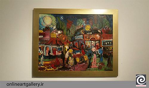 گزارش تصویری نمایشگاه نقاشی کامبیز خدابنده شهرکی در گالری هور( 26 تیر94)
