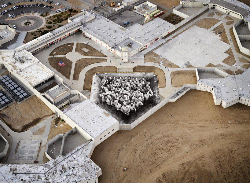 incarcerated citizens work together with french artist JR to realize the tehachapi project
