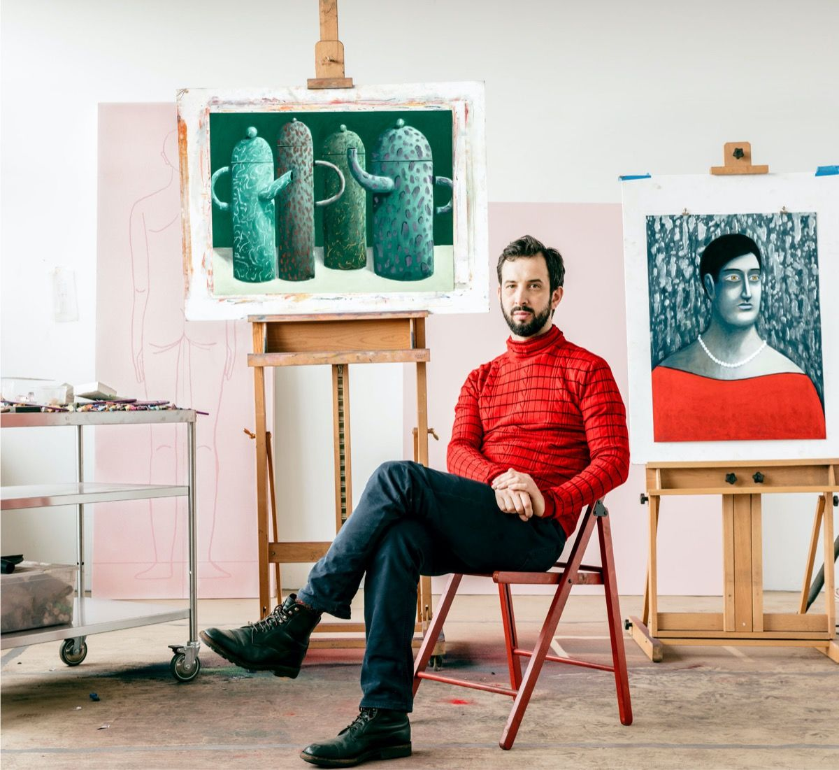Beloved for His Popping Pastels, Nicolas Party Takes a Darker Turn