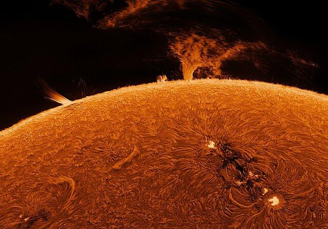 ثبت تصاویری از خورشید توسط استاد بازنشسته از باغ خانهاش