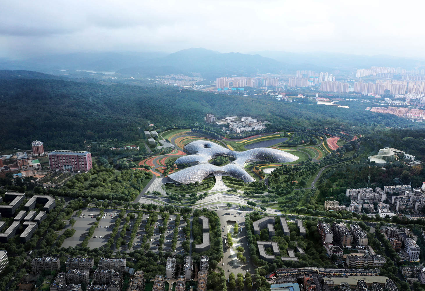 THAD and Sutherland Hussey Harris Design the National Botanical Museum in Kunming China
