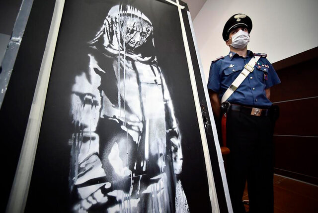 دستگیری سارقانِ اثر «بنکسی»