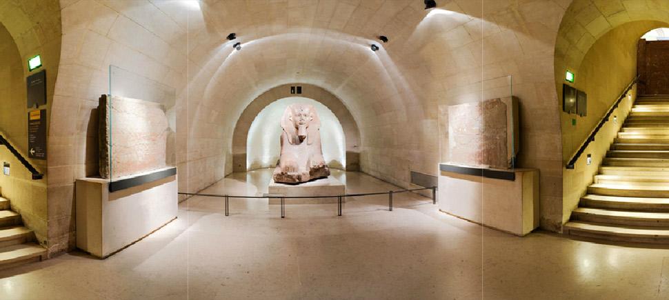 تصویر 360 درجه آثار باستانی مصر در موزه لوور
