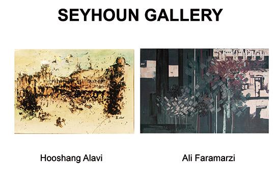 نمایشگاه آثار هنرمند ایرانی آقای هوشنگ علوی در گالری سیحون لس آنجلس