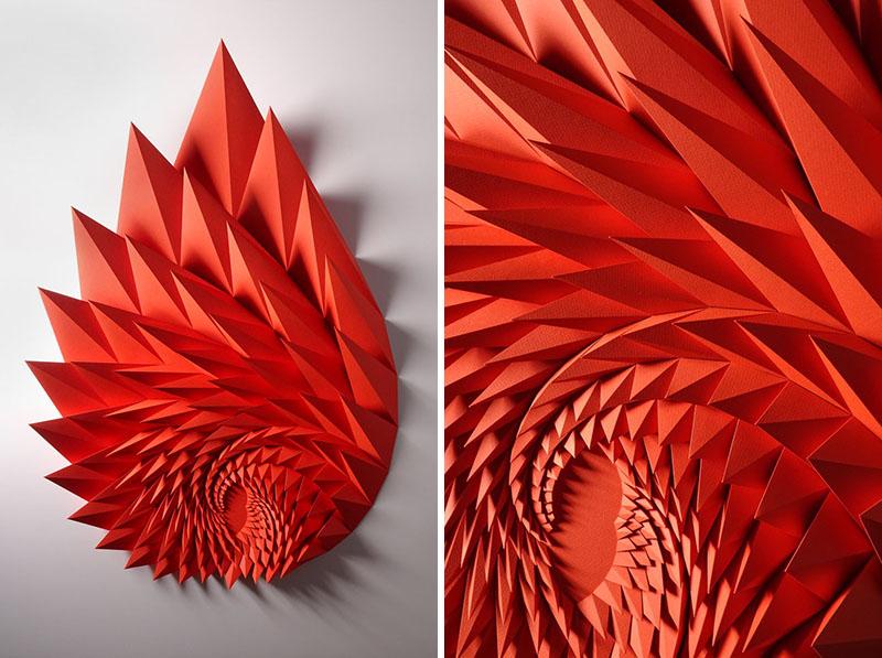 روایت Matt Shlian از مجسمه های کاغذی اش