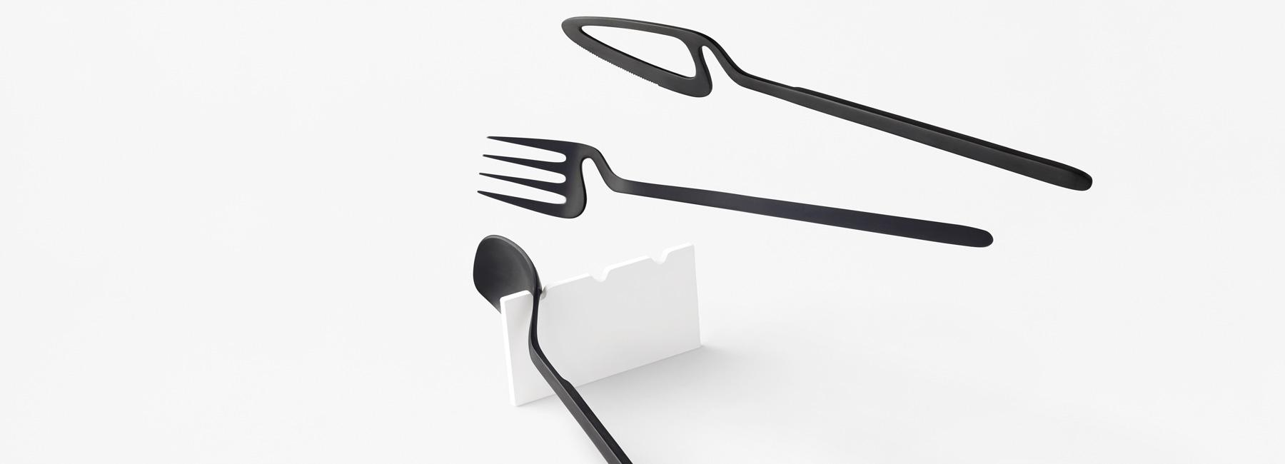 طراحی خلاقانه سرویس قاشق و چنگال