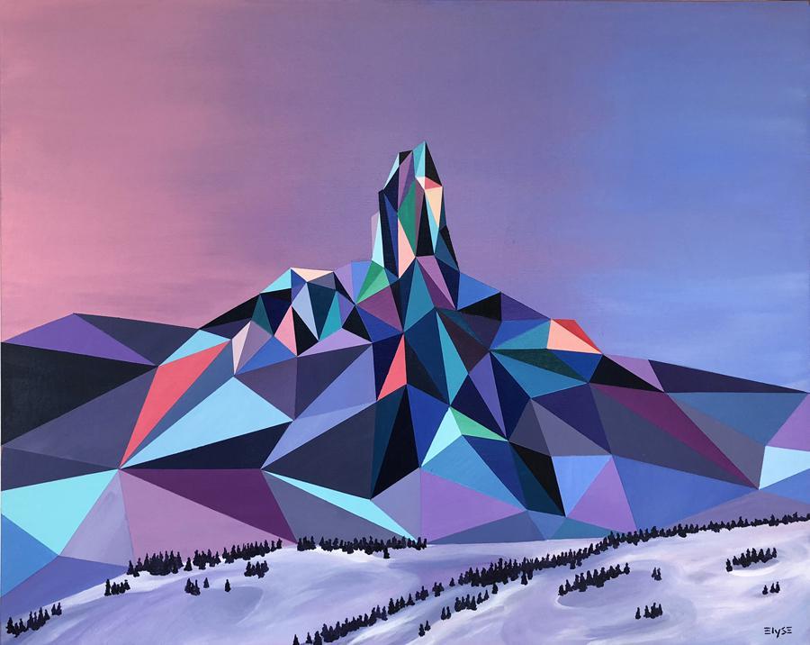 نگاهی بر هندسه ی مناظر رنگی Elyse Dodge