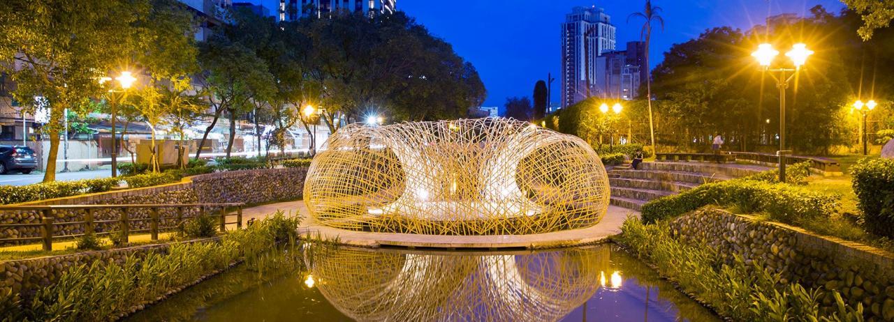 هنر عمومی شهری از جنس بامبو در تایوان