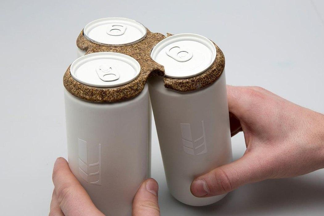 THIS 100% BIODEGRADABLE PACKAGING MATERIAL IS MADE FROM BREWERS SPENT GRAIN!