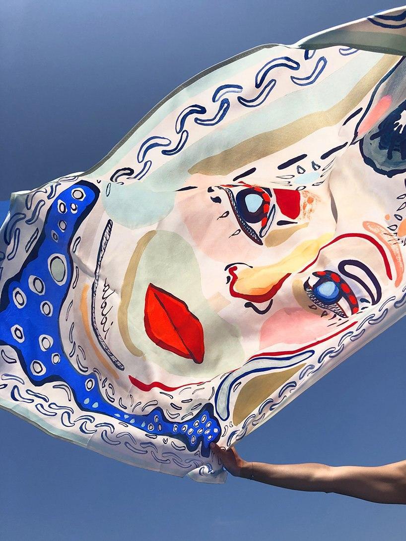 hand-painted silk scarves by idda studio recall sicilian summer