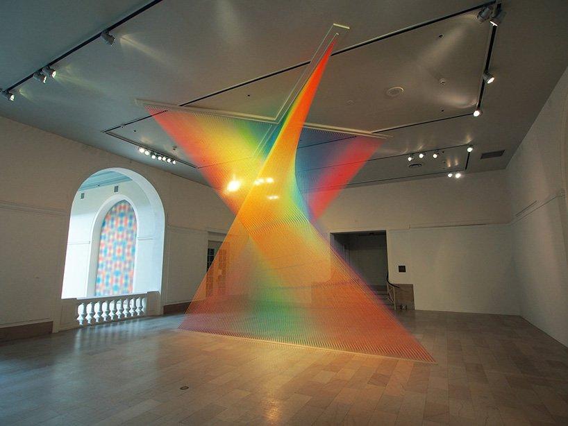 watch gabriel dawe discuss his massive rainbow thread installations