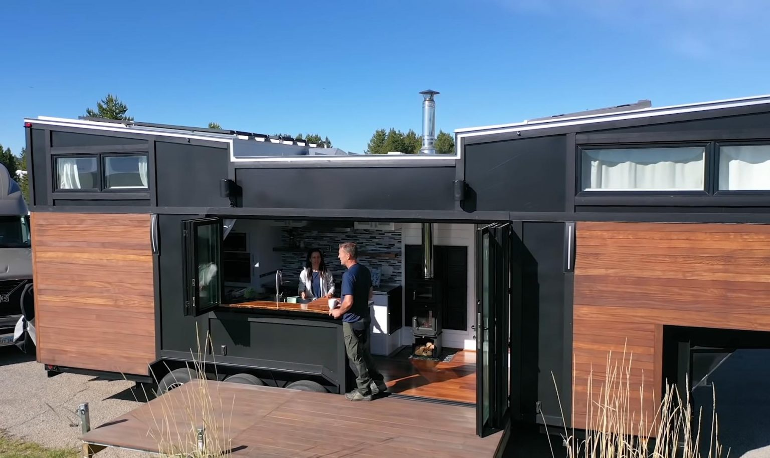 A Tiny House On Wheels Replaced This Couple's Large Suburban House