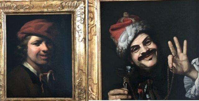 کشف دو تابلو نقاشی قدیمی در سطل زباله