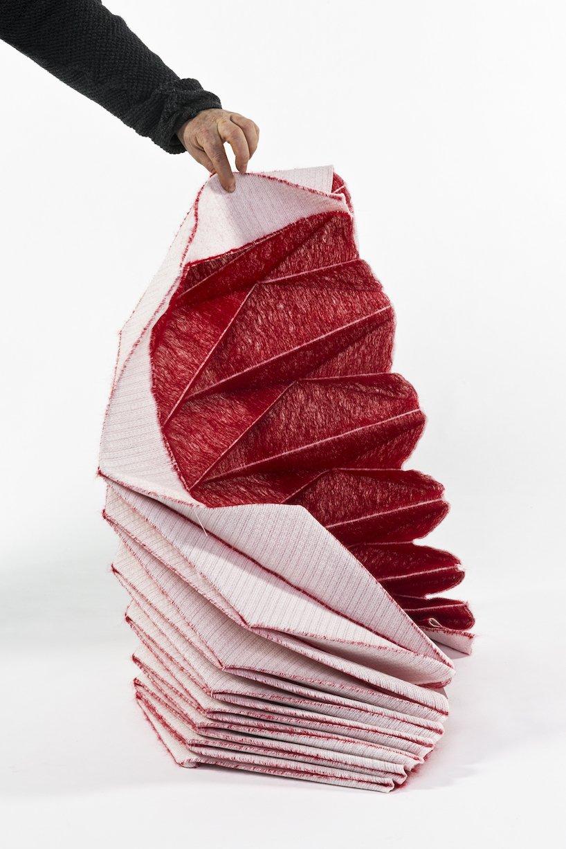 گزارش تصویری ساخت اوریگامی با استفاده از پارچه