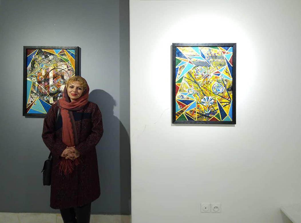 روایت مارینا ورزی از نمایش آثارش در گالری خط سفید